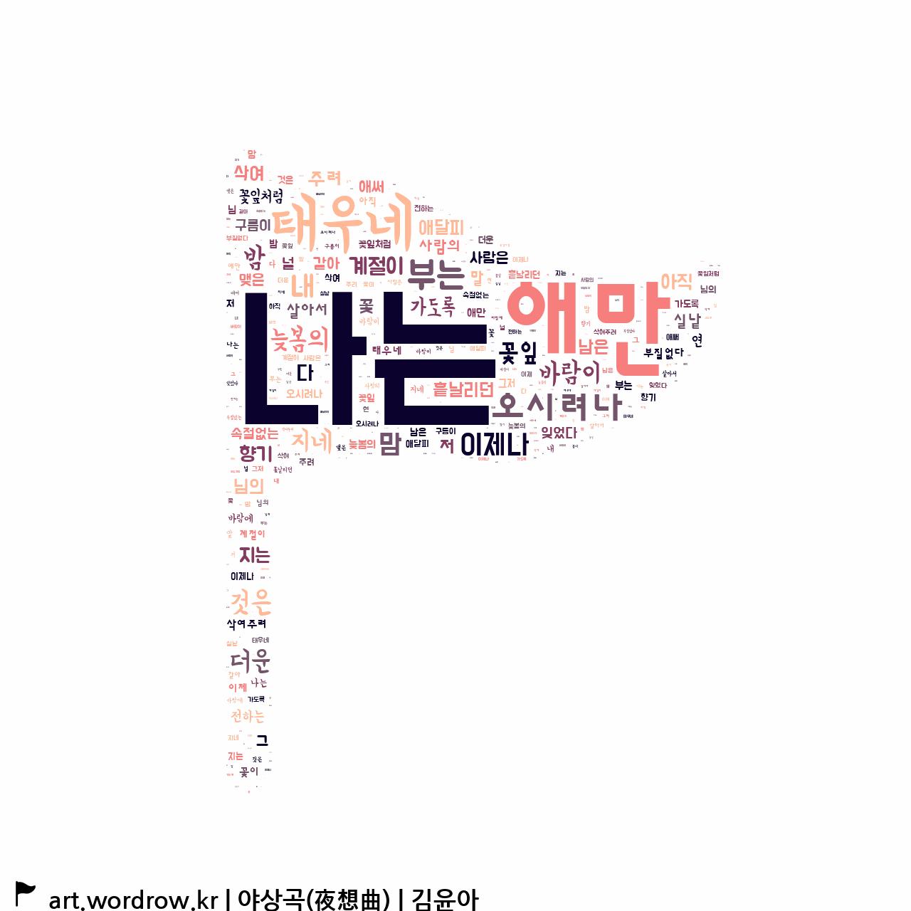 워드 클라우드: 야상곡(夜想曲) [김윤아]-62